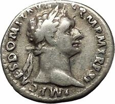 DOMITIAN son of Vespasian Silver Ancient Roman Coin Athena Minerva i53279