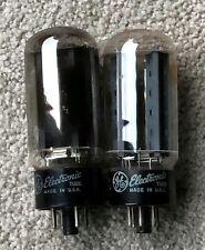 PAIR of GE 5U4GB Vacuum Tubes. Rectifier Radio TV Amplifier. Tested GOOD.