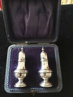 Boxed Sterling Silver Pepperettes - Joseph Gloster - Birmingham - 1906