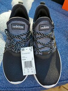 Adidas Womens Lite Racer Reborn Fabric Low Top Lace, Black/Black/Grey, Size 6