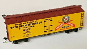 "HO Scale Vintage ""Theo Hamm Brewing Co"" St Paul MN Old-Time Billboard Reefer"