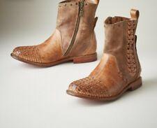 Bed Stu Baxter Cognac Ankle  Booties Tan Brown Size 9