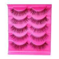 5 x Falsche Wimpern Strip Lash künstliche Lange Eye Lashes Makeup Augen.