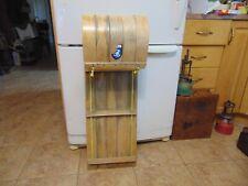 "vintage wooden snow toboggan slep  34"" nice    chalet decor  # 7926"