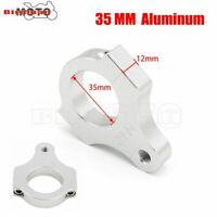 35MM Motorcycle Steering Damper Stabilizer Clamp Mounting Adapter Bracket Silver