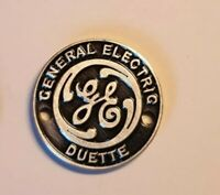 General Electric Duette badge , factory precision made.G.E. Duette 254E