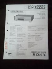 Sony Service Manual für cdp-x555es COMPACT DISC CD Player MP
