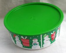 BNIP TUPPERWARE LARGE CHRISTMAS CANISTER