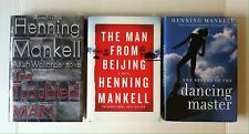 Lot 3 Henning Mankell books HC Troubled Man, Man from Beijing, Return of Dancing