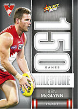 2016 AFL Footy Stars Trading Cards Milestones Subset MG74 Ben McGlynn (Sydney)