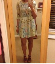 River Island Size 10 Floral 3/4 Sleeve Dress