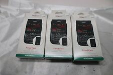 Lot of 3 Verizon Fitted Black Leather Case For Blackberry Bold 9650 / Tour 9630