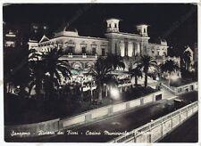 IMPERIA SANREMO 206 CASINO - NOTTURNO Cartolina FOTOGRAFICA VIAGGIATA 1958
