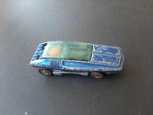 Original Hot Wheels Redline 1969 Whip Creamer - Blue - Hong Kong paint damage