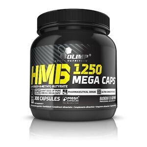 OLIMP HMB 1250 Mega Caps 300 Caps ANTICATABOLIC FORMULA, STRENGTH & LEAN MUSCLE