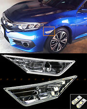 FOR 2016-19 10TH GEN HONDA CIVIC JDM CLEAR LENS SIDE MARKER BLINKER LAMPS LIGHT