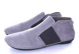 CAMPER Right Nina Gray Suede Ankle Bootie Slip On Size 39 US 8