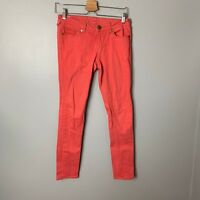 True Religion Burnt Orange SHannon Skinny Jeans Sz 27 4 Denim Womens Slim