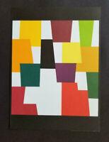 "Yaacov Agam ""Original Stone Lithograph"" I 1980 Limited ed."