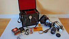 vintage camera set PRAKTICA L2, PENTACON in excellent condition for collection