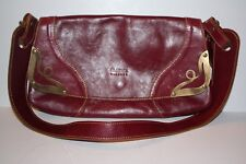 Claudia Firenze Red Italian Leather Shoulder Bag