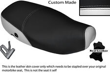 WHITE & BLACK CUSTOM FITS PIAGGIO VESPA LX 125 DUAL LEATHER SEAT COVER