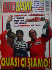 Auto & Sport ROMBO 18 1995 Gp Italia Hill su Alesi e Berger Imola Rossa