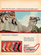 PUBLICITE  1967   COLLEGIEN  chaussettes  collants