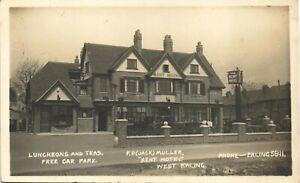 West Ealing. The Kent Hotel. Jack Muller. Luncheons & Teas.