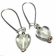 Heart Silver Plated Costume Earrings without Stone