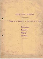ww1 Notice avion Paul Schmitt type 2 et 3.