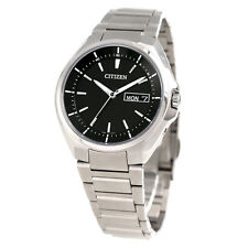 2016 NEW CITIZEN ATTESA Eco-drive radio clock watch day date display AT6050-54E