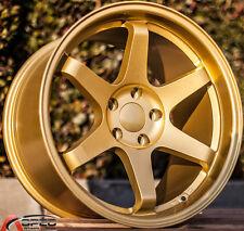 18x10.5 Varrstoen Es2 5x114.3 +22 Gold Wheels Aggressive Fits 350z G35 240sx Rx8