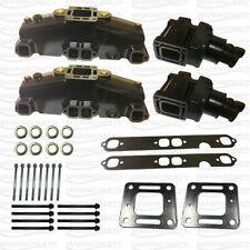 """Exhaust Manifold 4"""" Riser Elbow Kit Mercruiser 350 5.7 305 5.0 V8 For 860246A10"""