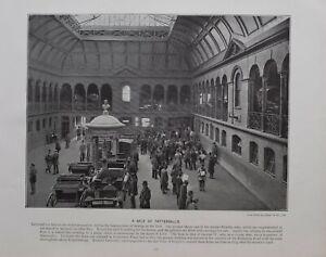 1896 London Aufdruck + Text Ein Angebot Bei TATTERSALL'S Pferd Auktion Wagen