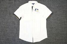 Club Room Camuflaje Militar Recortar Pequeño Elástico Manga Corta Botón Camisa