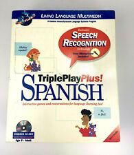 Triple Play Plus! Spanish Living Language Multimedia Learning Software (No Mic)