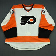2013-14 Tyler Hostetter Philadelphia Flyers Game Issued Reebok Hockey Jersey NHL