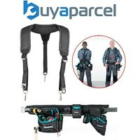 Makita Super Heavyweight Duty Tool Belt and Set - Pouch, Phone, Holster + Braces
