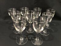 9 Vintage Elegant  Long Stem Crystal Shot/Port/Sherry/Liqueur/Cordial Glasses