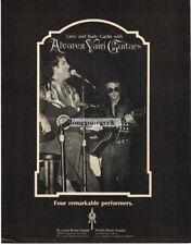 1981 ALVAREZ YAIRI Acoustic Guitar LARRY GATLIN, RUDY GATLIN Vtg Print Ad