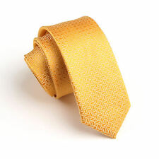 Men's Fashion Yellow Wedding Neck Tie Necktie Narrow Slim Skinny SK276