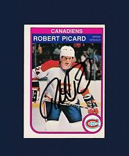 Robert Picard signed Montreal Canadiens 1982 Opee Chee hockey card