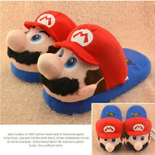 superio mario brothers plush indoor slippers house shoes new