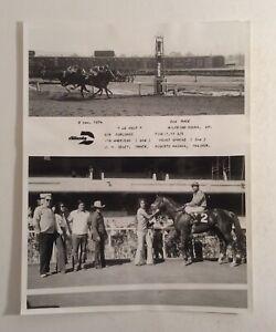 VTG Horse Racing Winner's Circle Photograph 1974 Caliente Le Haut Memorabilia