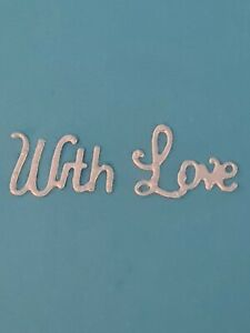 Tiny With Love Wording Die Cutters  Lightly Used