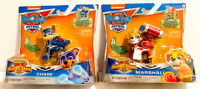 New - Nickelodeon Paw Patrol Mighty Pups Super Paws Chase And Marshall Figure