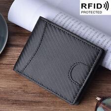 Men's Genuine Leather Slim Billfold Wallet RFID Blocking Business ID Card Holder