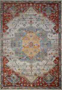 Mesa Ivory Red   5 x 8   Home Decor   Area Rugs