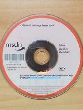 DVD MICROSOFT EXCHANGE SERVER 2007 DISC 3922 ITALIAN ENTERPRISE EDITION PROD-KEY